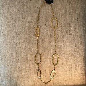Karine Sultan Geometric Hammered Gold Necklace